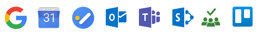 Aster integrations google suite office 365 trello